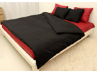 Vuodevaatesetti BLACK-RED satiini 180x210 cm AN-69971