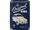 Retrotyylinen metallijuliste VW BEETLE THE ORIGINAL RIDE 20x30 cm SG-73485
