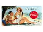 Retrotyylinen metallijuliste COCA-COLA DELICIOUS 25x50 cm SG-73503
