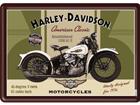 Retrotyylinen metallijuliste HARLEY-DAVIDSON KNUCKLEHEAD 15x20 cm SG-74261