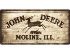 Retro metallijuliste JOHN DEERE 25x50 cm SG-78372