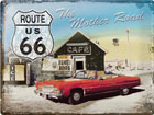 Retro metallijuliste ROUTE 66 THE MOTHER ROAD SG-78373