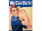 Retrotyylinen metallijuliste WE CAN DO IT! 15x20 cm SG-78918