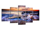 Viisiosainen seinätaulu VALTAMERI 200x100 cm ED-80892