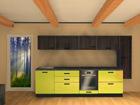 Korkeakiiltoinen keittiö 320 cm