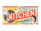 Retrotyylinen metallijuliste FEEL LIKE HOME IN MY KITCHEN S 25x50 cm SG-82047