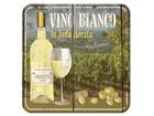 Retro lasinalusta VINO BIANCO 4 kpl SG-82335