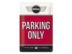 Retro metallijuliste MINI PARKING ONLY 20x30 cm SG-84340
