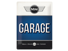 Retro metallijuliste MINI GARAGE 30x40 cm SG-84354