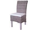 Rottinki tuoli SAVONA + pehmuste BL-85670