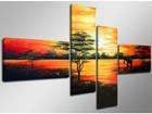 Neliosainen seinätaulu AFRIKKA 160x70 cm ED-86575