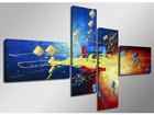 Neljäosainen seinätaulu OTPIK 160x70 cm ED-86576
