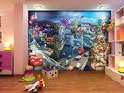 Kuvatapetti DISNEY CARS 2 MIX 360x254 cm
