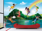 Kuvatapetti DISNEY FAIRIES WITH RAINBOW 360x254 cm