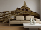 Kuvatapetti EIFFEL TOWER BLACK AND WHITE 360x254 cm ED-88158