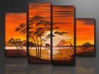 Neliosainen seinätaulu AFRIKKA