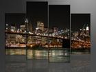 Neliosainen seinätaulu AMERIKAN VALOT 130x80 cm ED-88917