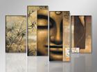 Neliosainen seinätaulu BUDDHA 130x80 cm