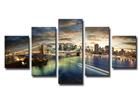Viisiosainen seinätaulu NEW YORK 100x50 cm ED-89548