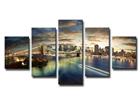Viisiosainen seinätaulu NEW YORK 160x80 cm ED-89560