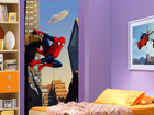 Fleece kuvatapetti SPIDERMAN AND THE CITY 90x202 cm ED-90985