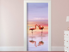 Fleece kuvatapetti FLAMINGOS 90x202 cm ED-91078