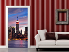 Fleece kuvatapetti SUNSET IN NEW YORK 90x202 cm ED-91440