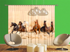 Puolipimentävä fotoverho HERD OF HORSES 280x245 cm ED-95347