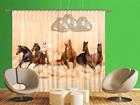 Pimentävä fotoverho HERD OF HORSES 280x245 cm ED-95876