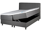 HYPNOS sänky 140x200 cm kahdella vuodevaatelaatikolla