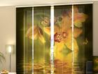 Läpinäkyvä paneeliverho NEPHRITE ORCHIDS 240x240 cm ED-97575