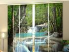 Läpinäkyvä paneeliverho THAI WATERFALL IN SPRING 240x240 cm ED-97636