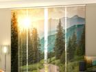 Puolipimentävä paneeliverho paneeliverho SUN AND MOUNTAINS 240x240 cm ED-97721