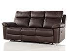 Nahkainen 3-ist sohva jalkatukimekanismilla URUGUAY AQ-97910