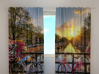 Läpinäkyvä verho BEAUTIFUL SUNRISE OVER AMSTERDAM 240x220 cm ED-97923