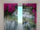 Puolipimentävä verho FLOWERS AT THE WATERFALL 240x220 cm ED-97947