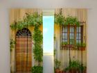 Puolipimentävä verho FLOWERS BY THE DOOR 240x220 cm ED-97950