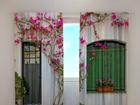Puolipimentävä verho FLOWERS ON THE WINDOW 240x220 cm ED-97960