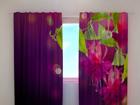 Läpinäkyvä verho FUCHSIA FLOWERS 240x220 cm ED-97984