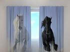 Puolipimentävä verho HORSES 1, 240x220 cm ED-98185