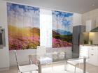 Puolipimentävä verho FLOWERS AND MOUNTAINS 200x120 cm ED-98414