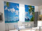 Läpinäkyvä verho BEACH BEHIND THE WINDOW 200x120 cm ED-98546