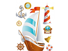 Seinätarra SHIP 65x85 cm ED-98898
