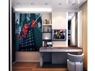 Fleece kuvatapetti SPIDERMAN'S SPIDER WEB 180x202 cm