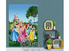 Fleece kuvatapetti DISNEY PRINCESS 180x202 cm ED-99085