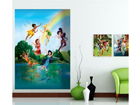 Fleece kuvatapetti DISNEY FAIRIES IN THE RAINBOW 180x202 cm