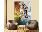 Fleece kuvatapetti DISNEY FAIRIS PLAYING 180x202 cm