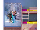 Fleece kuvatapetti DISNEY ICE KINGDOM 180x202 cm