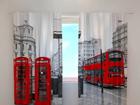 Puolipimentävä verho LONDON BUS 240x220 cm ED-99390