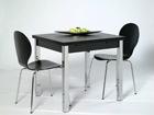 Jatkettava ruokapöytä 80x80-147 cm, musta AY-99735